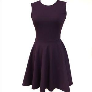 Diane von Furstenberg Plum A Line Jeannie Dress